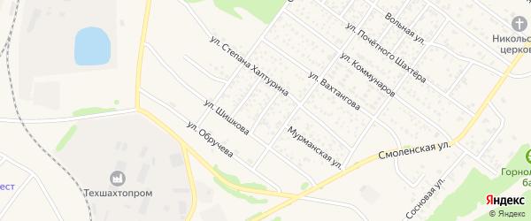 Мурманский переулок на карте Полысаево с номерами домов