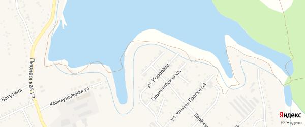 Переулок Королева на карте Березовского с номерами домов