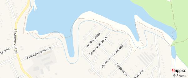 Улица Королева на карте Березовского с номерами домов