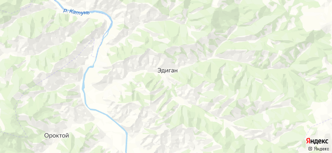 Эдиган на карте