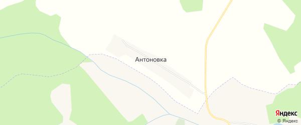 Карта поселка Антоновки в Кемеровской области с улицами и номерами домов