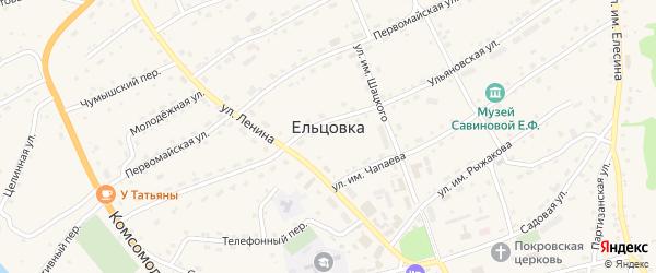 Нагорный переулок на карте села Ельцовки с номерами домов