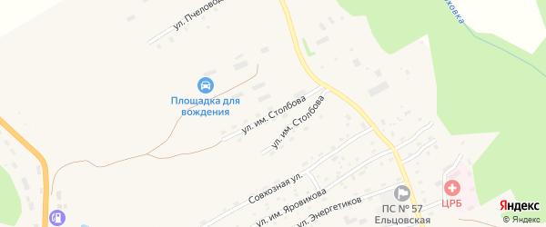 Улица им Столбова на карте села Ельцовки с номерами домов