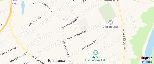 Улица им Савиновой на карте села Ельцовки с номерами домов
