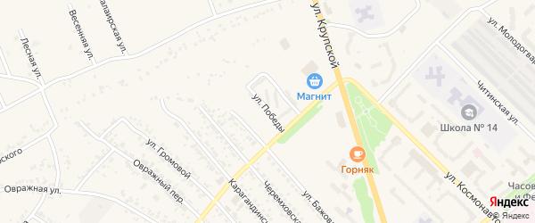 Улица Победы на карте Полысаево с номерами домов