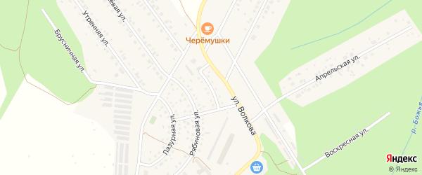 Улица Черемушки на карте Березовского с номерами домов