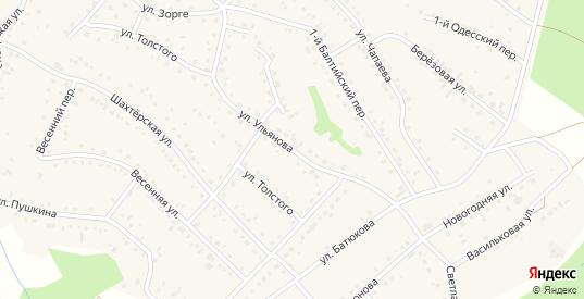 Улица Ульянова в Березовском с номерами домов на карте. Спутник и схема онлайн