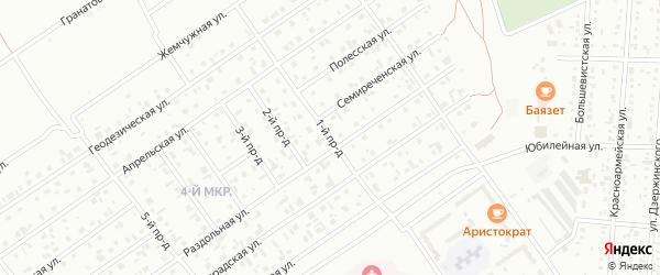 Улица 1-й Проезд на карте Белово с номерами домов