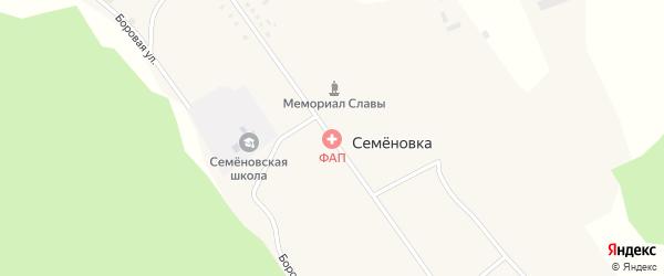 Улица Томилина на карте села Семеновки Томской области с номерами домов
