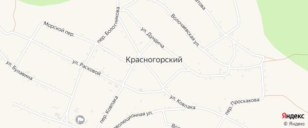 Отрадная улица на карте Красногорского поселка с номерами домов