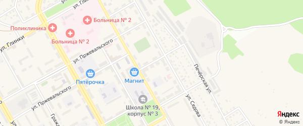 Переулок Гастелло на карте поселка Нового Городка с номерами домов