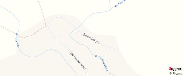 Заречная улица на карте поселка Карагайки Алтайского края с номерами домов