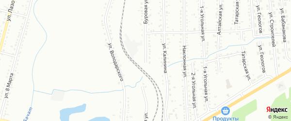 Буровая улица на карте Белово с номерами домов