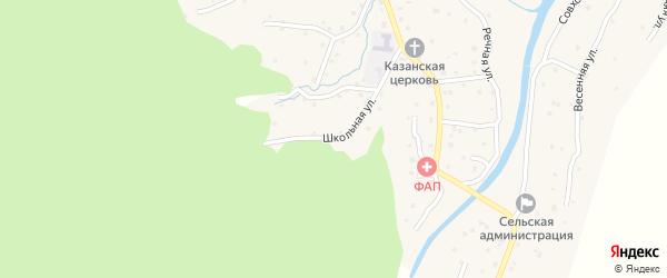 Школьная улица на карте села Паспаула с номерами домов