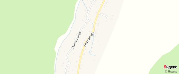 Лесная улица на карте села Паспаула Алтая с номерами домов