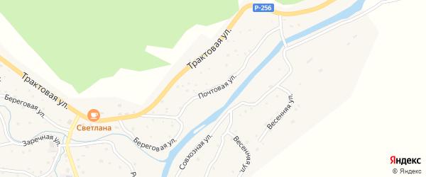 Почтовая улица на карте села Паспаула Алтая с номерами домов