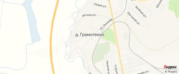Карта деревни Грамотеино города Белово в Кемеровской области с улицами и номерами домов