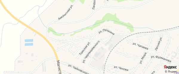 Улица Пушкина на карте поселка Грамотеино с номерами домов