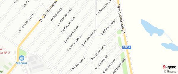 2-я Рижская улица на карте Белово с номерами домов