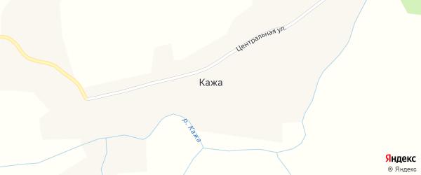 Центральная улица на карте села Кажи с номерами домов