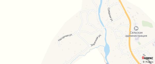 Нагорная улица на карте села Купчегеня Алтая с номерами домов