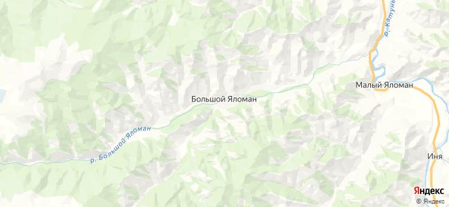 Большой Яломан на карте