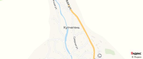 Улица С.Ю.Аткунова на карте села Купчегеня Алтая с номерами домов