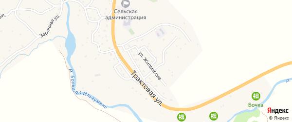 Улица Жилмассив на карте села Купчегеня Алтая с номерами домов