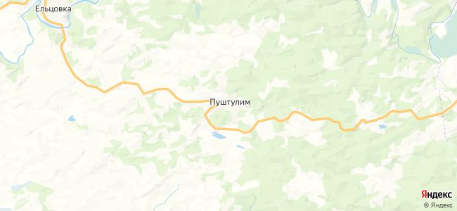 Пуштулим на карте