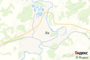 Карта пос. Яя