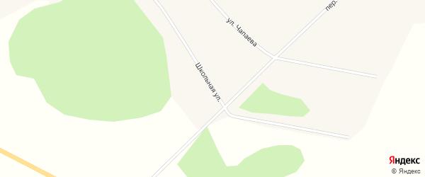 Школьная улица на карте села Цыганово Томской области с номерами домов