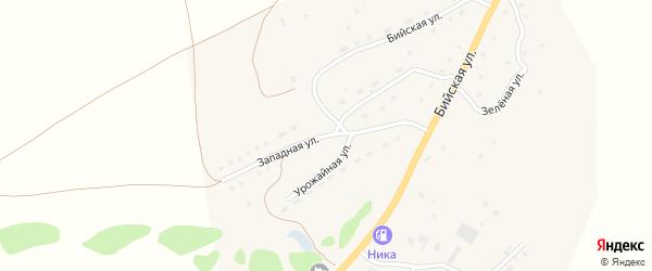 Западная улица на карте села Солтона Алтайского края с номерами домов