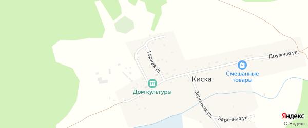 Горная улица на карте села Киски Алтая с номерами домов
