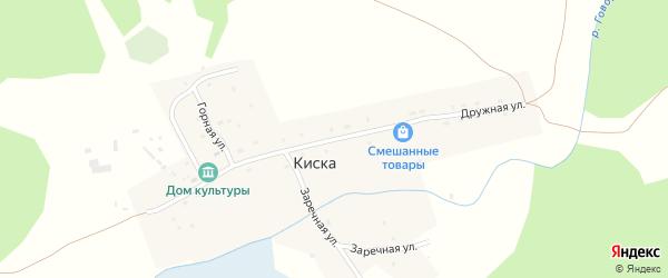 Дружная улица на карте села Киски Алтая с номерами домов