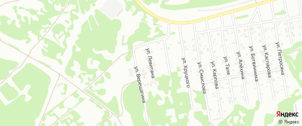 Улица Левитана на карте Киселевска с номерами домов