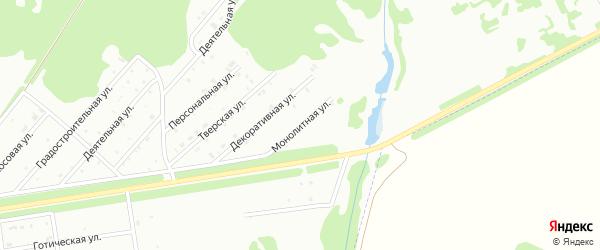 Монолитная улица на карте Киселевска с номерами домов