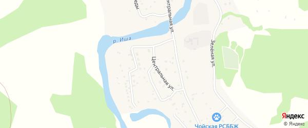 Улица 40 лет Победы на карте села Гусевки Алтая с номерами домов