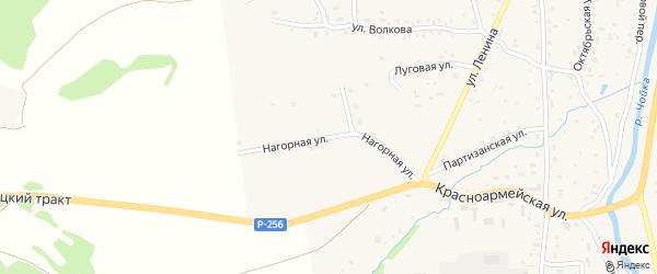 Нагорная улица на карте села Чоя Алтая с номерами домов