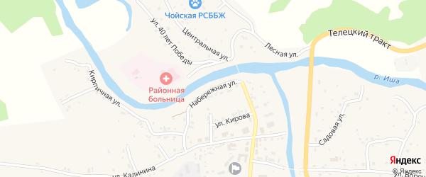 Набережная улица на карте села Чоя Алтая с номерами домов