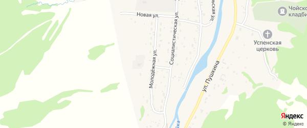 Молодежная улица на карте села Чоя Алтая с номерами домов