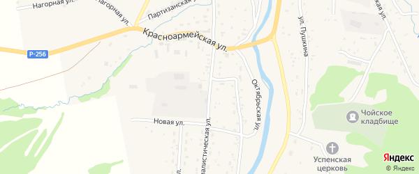 Социалистическая улица на карте села Чоя с номерами домов