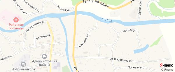 Садовая улица на карте села Чоя Алтая с номерами домов