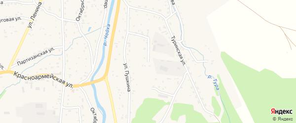 Еловая улица на карте села Чоя Алтая с номерами домов