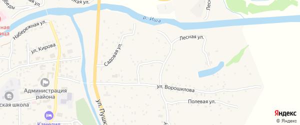 Ключевой переулок на карте села Чоя Алтая с номерами домов