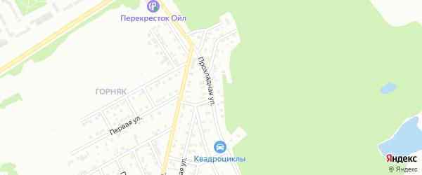 Прохладная улица на карте Киселевска с номерами домов