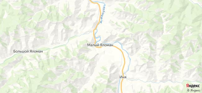 Малый Яломан на карте