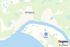 Карта г. Игарка