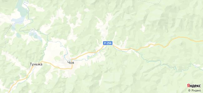 Советское на карте