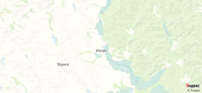 Излап на карте