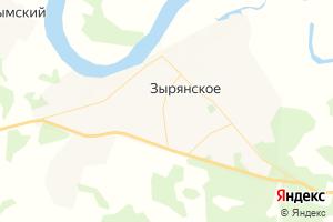 Карта с. Зырянское